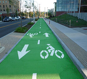 Bild Color Safe grön cykelbana