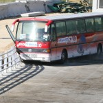 Räcke AluLine test buss